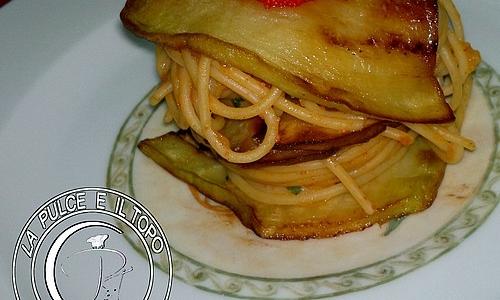 Spaghetti in mille foglie al profumo di mare