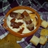 Salamelle al sugo su letto di fonduta