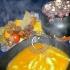 Larve in brodo primordiale ( Gnocchi al pistacchio in vellutata di zucca)